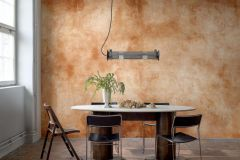 P271001-9 cikkszámú tapéta.Konyha-fürdőszobai,kőhatású-kőmintás,különleges motívumos,narancs-terrakotta,szürke,lemosható,vlies poszter, fotótapéta