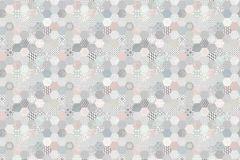 P271402-8 cikkszámú tapéta.Absztrakt,csipke,különleges felületű,különleges motívumos,kék,pink-rózsaszín,szürke,türkiz,lemosható,vlies poszter, fotótapéta