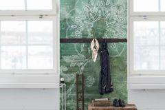 P271501-9 cikkszámú tapéta.Csipke,különleges felületű,különleges motívumos,rajzolt,bronz,kék,türkiz,lemosható,vlies poszter, fotótapéta