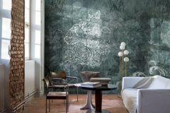 P271901-10 cikkszámú tapéta.állatok,különleges felületű,különleges motívumos,rajzolt,ezüst,kék,szürke,zöld,lemosható,vlies poszter, fotótapéta