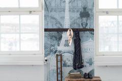 P272003-10 cikkszámú tapéta.Különleges felületű,különleges motívumos,rajzolt,kék,szürke,lemosható,vlies poszter, fotótapéta