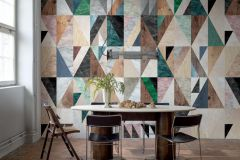 P272201-7 cikkszámú tapéta.Absztrakt,különleges felületű,különleges motívumos,retro,barna,kék,pink-rózsaszín,piros-bordó,szürke,zöld,lemosható,vlies poszter, fotótapéta