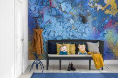 P250101-6 cikkszámú tapéta.3d hatású,fotórealisztikus,gyerek,kőhatású-kőmintás,különleges motívumos,rajzolt,retro,kék,piros-bordó,sárga,vlies poszter, fotótapéta