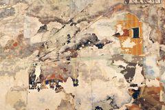 P250901-8 cikkszámú tapéta.Absztrakt,feliratos-számos,gyerek,kőhatású-kőmintás,retro,barna,bézs-drapp,sárga,vlies poszter, fotótapéta