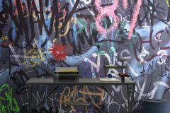 P251601-9 cikkszámú tapéta.Feliratos-számos,gyerek,különleges motívumos,rajzolt,retro,fehér,fekete,kék,lila,narancs-terrakotta,pink-rózsaszín,piros-bordó,szürke,zöld,vlies poszter, fotótapéta