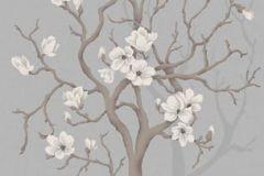 P030404-4 cikkszámú tapéta.Virágmintás,fa hatású-fa mintás,szürke,barna,bézs-drapp,gyengén mosható,vlies  tapéta