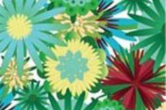 P031202-2 cikkszámú tapéta.Különleges motívumos,természeti mintás,virágmintás,kék,piros-bordó,sárga,zöld,gyengén mosható,vlies poszter, fotótapéta