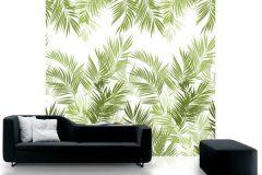 P031602-6 cikkszámú tapéta.Rajzolt,természeti mintás,fehér,zöld,gyengén mosható,vlies poszter, fotótapéta