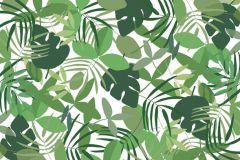 P031701-8 cikkszámú tapéta.Fa hatású-fa mintás,különleges motívumos,rajzolt,természeti mintás,fehér,zöld,gyengén mosható,vlies poszter, fotótapéta
