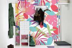 P031702-8 cikkszámú tapéta.Fa hatású-fa mintás,rajzolt,retro,természeti mintás,fehér,kék,pink-rózsaszín,piros-bordó,türkiz,gyengén mosható,vlies poszter, fotótapéta
