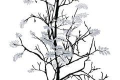 P031802-8 cikkszámú tapéta.Fa hatású-fa mintás,gyerek,rajzolt,retro,természeti mintás,fehér,fekete,szürke,gyengén mosható,vlies poszter, fotótapéta