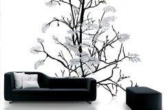 P031802-8 cikkszámú tapéta.Fa hatású-fa mintás,fehér,fekete,gyengén mosható,vlies poszter, fotótapéta
