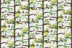 P032201-8 cikkszámú tapéta.Fa hatású-fa mintás,különleges motívumos,rajzolt,retro,barna,fehér,fekete,zöld,gyengén mosható,vlies poszter, fotótapéta