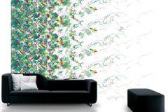 P032301-8 cikkszámú tapéta.Különleges motívumos,rajzolt,retro,fehér,sárga,zöld,gyengén mosható,vlies poszter, fotótapéta