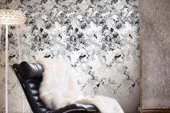 P032303-4 cikkszámú tapéta.Különleges motívumos,rajzolt,retro,fehér,fekete,gyengén mosható,vlies poszter, fotótapéta