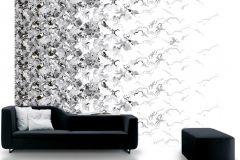 P032303-8 cikkszámú tapéta.Különleges motívumos,retro,fehér,fekete,gyengén mosható,vlies poszter, fotótapéta