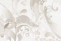 P032503-8 cikkszámú tapéta.Absztrakt,különleges motívumos,rajzolt,retro,bézs-drapp,fehér,szürke,gyengén mosható,vlies poszter, fotótapéta