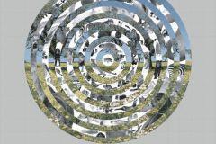 E040101-4 cikkszámú tapéta.Fotórealisztikus,geometriai mintás,retro,3d hatású,fehér,kék,szürke,zöld,gyengén mosható,vlies poszter, fotótapéta