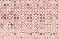 E040201-4 cikkszámú tapéta.Fotórealisztikus,geometriai mintás,kockás,rajzolt,retro,barna,bézs-drapp,pink-rózsaszín,piros-bordó,gyengén mosható,vlies poszter, fotótapéta