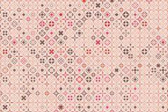 E040202-4 cikkszámú tapéta.Fotórealisztikus,geometriai mintás,kockás,különleges motívumos,rajzolt,retro,barna,bézs-drapp,narancs-terrakotta,piros-bordó,gyengén mosható,vlies poszter, fotótapéta