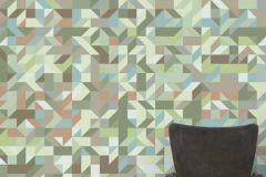 E040301-7 cikkszámú tapéta.Absztrakt,fotórealisztikus,geometriai mintás,retro,bézs-drapp,szürke,zöld,gyengén mosható,vlies poszter, fotótapéta