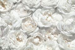 E040601-8 cikkszámú tapéta.Fotórealisztikus,különleges motívumos,természeti mintás,virágmintás,bézs-drapp,fehér,szürke,gyengén mosható,vlies poszter, fotótapéta