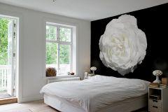 E040605-6 cikkszámú tapéta.3d hatású,fotórealisztikus,különleges motívumos,természeti mintás,virágmintás,fehér,fekete,gyengén mosható,vlies poszter, fotótapéta