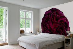 E040608-6 cikkszámú tapéta.Virágmintás,retro,különleges motívumos,fotórealisztikus,fehér,piros-bordó,gyengén mosható,vlies poszter, fotótapéta