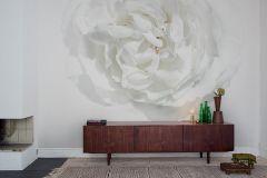 E040609-6 cikkszámú tapéta.Virágmintás,természeti mintás,fotórealisztikus,fehér,szürke,gyengén mosható,vlies poszter, fotótapéta