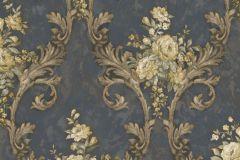 4909 cikkszámú tapéta.Barokk-klasszikus,természeti mintás,textil hatású,virágmintás,arany,bézs-drapp,szürke,zebra,súrolható,vlies tapéta