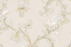 4911 cikkszámú tapéta.Barokk-klasszikus,természeti mintás,textil hatású,virágmintás,arany,bézs-drapp,fehér,vajszín,súrolható,vlies tapéta