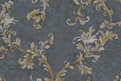 4919 cikkszámú tapéta.Barokk-klasszikus,természeti mintás,textil hatású,virágmintás,arany,ezüst,szürke,súrolható,vlies tapéta
