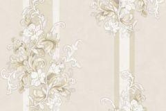 4921 cikkszámú tapéta.Természeti mintás,textil hatású,virágmintás,barokk-klasszikus,csíkos,arany,bézs-drapp,fehér,súrolható,vlies tapéta