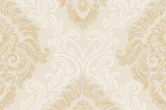 4931 cikkszámú tapéta.Barokk-klasszikus,különleges motívumos,textil hatású,arany,bézs-drapp,súrolható,vlies tapéta