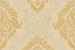 4932 cikkszámú tapéta.Barokk-klasszikus,textil hatású,arany,bézs-drapp,bronz,súrolható,vlies tapéta