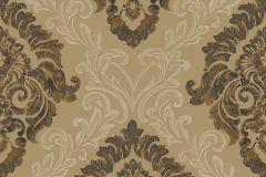 4939 cikkszámú tapéta.Barokk-klasszikus,különleges motívumos,textil hatású,arany,barna,szürke,súrolható,vlies tapéta