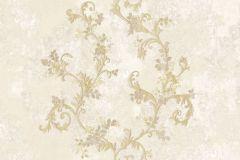 6700 cikkszámú tapéta.Barokk-klasszikus,különleges motívumos,textil hatású,arany,bézs-drapp,fehér,vajszín,súrolható,vlies tapéta
