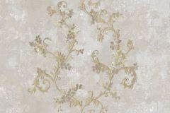 6702 cikkszámú tapéta.Barokk-klasszikus,különleges felületű,különleges motívumos,textil hatású,arany,bronz,szürke,súrolható,vlies tapéta