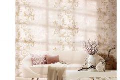 6704 cikkszámú tapéta.Barokk-klasszikus,különleges felületű,különleges motívumos,textil hatású,virágmintás,arany,bézs-drapp,pink-rózsaszín,vajszín,súrolható,vlies tapéta