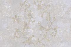6706 cikkszámú tapéta.Barokk-klasszikus,különleges felületű,különleges motívumos,textil hatású,virágmintás,bézs-drapp,kék,lila,vajszín,súrolható,vlies tapéta