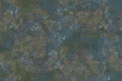 6717 cikkszámú tapéta.Absztrakt,barokk-klasszikus,különleges felületű,különleges motívumos,textil hatású,virágmintás,barna,bronz,zöld,súrolható,vlies tapéta