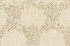 6725 cikkszámú tapéta.Barokk-klasszikus,különleges felületű,különleges motívumos,textil hatású,virágmintás,barna,bézs-drapp,vajszín,súrolható,vlies tapéta