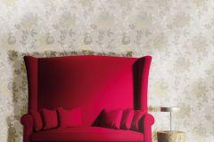 2101 cikkszámú tapéta.Barokk-klasszikus,természeti mintás,virágmintás,bézs-drapp,szürke,gyengén mosható,vlies tapéta