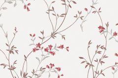 2134 cikkszámú tapéta.Természeti mintás,virágmintás,fehér,piros-bordó,szürke,gyengén mosható,vlies tapéta