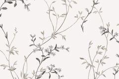 2139 cikkszámú tapéta.Természeti mintás,virágmintás,fehér,fekete,szürke,gyengén mosható,vlies tapéta