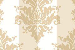 2142 cikkszámú tapéta.Barokk-klasszikus,csíkos,arany,bézs-drapp,fehér,gyengén mosható,vlies tapéta