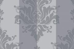 2147 cikkszámú tapéta.Barokk-klasszikus,csíkos,szürke,gyengén mosható,vlies tapéta