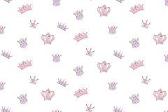 2206 cikkszámú tapéta.Absztrakt,gyerek,különleges motívumos,rajzolt,fehér,lila,pink-rózsaszín,gyengén mosható,vlies tapéta