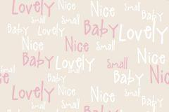 2207 cikkszámú tapéta.Gyerek,különleges motívumos,rajzolt,retro,bézs-drapp,fehér,piros-bordó,gyengén mosható,vlies tapéta