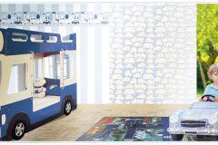 2236 cikkszámú tapéta.Gyerek,különleges motívumos,rajzolt,fehér,kék,gyengén mosható,vlies tapéta